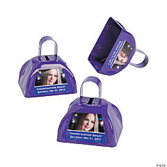 Purple Graduation Custom Photo Cowbells