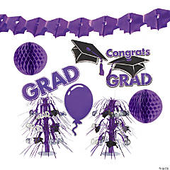 Purple Graduation Decorating Kit