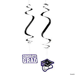 Purple Graduation Hanging Swirls Mega Pack