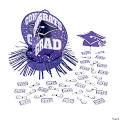 Purple Graduation Table Decorating Kit