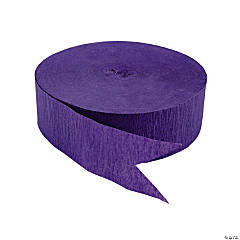 Purple Jumbo Paper Streamers