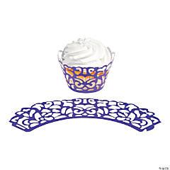 Purple Laser-Cut Cupcake Wrappers