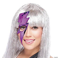 Purple Lightning Bolt Mask for Women