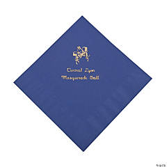 Purple Masquerade Personalized Napkins with Gold Foil - Luncheon