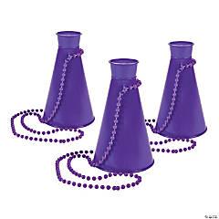 Purple Megaphone Bead Necklaces
