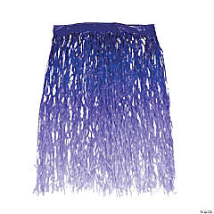 Purple Ombre Color Grass Hula Skirt