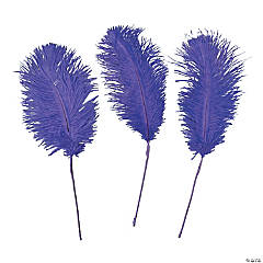 Purple Ostrich Feathers