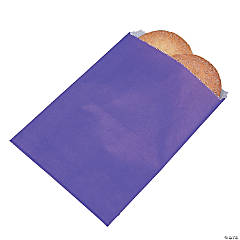 Purple Parchment Treat Bags