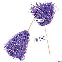 Purple Personalized Graduation Spirit Poms