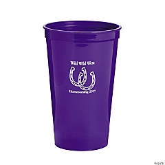 Purple Personalized Horseshoe Tumblers