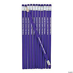 Purple Personalized Pencils