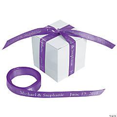 """Purple Personalized Ribbon - 3/8"""""""