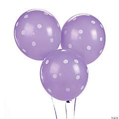 Purple Polka Dot Latex Balloons