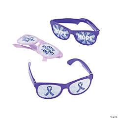 Purple Ribbon Pinhole Glasses