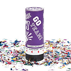 Purple School Spirit Party Poppers