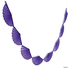 Purple Semi Fanburst Garland