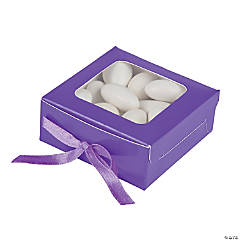 Purple Shadow Favor Boxes