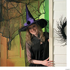 Purple Spiderweb Witch Hat