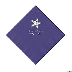 Purple Starfish Personalized Luncheon Napkins