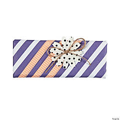 Purple Striped and Flowered Candy Bar Wrap Idea