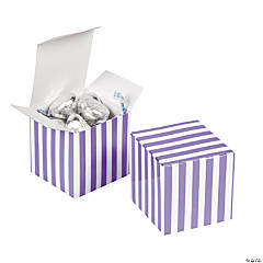 Purple Striped Gift Boxes