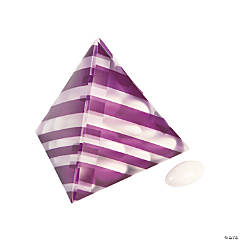 Purple Striped Pyramid Favor Boxes