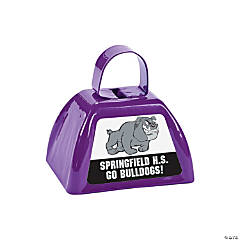 Purple Team Spirit Custom Photo Cowbells