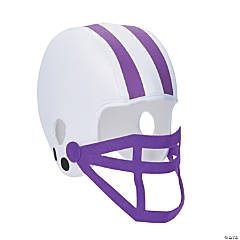 Purple Team Spirit Football Helmet