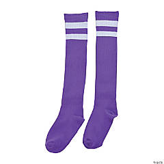 Purple Team Spirit Knee-High Socks
