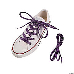 Purple Team Spirit Metallic Shoelaces