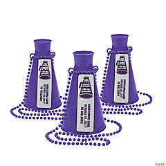 Purple Team Spirit Personalized Megaphone Necklaces