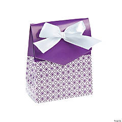 Purple Tent Favor Boxes With Bow
