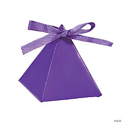Purple Triangle Favor Boxes