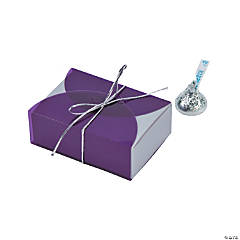 Purple Vellum Favor Boxes