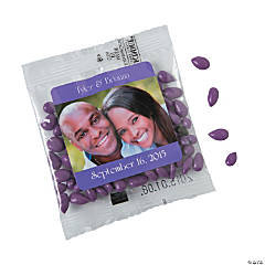 Purple Wedding Custom Photo Candy-Coated Sunflower Seed Packs