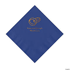 Purple Wedding Ring Personalized Napkins with Gold Foil - Luncheon