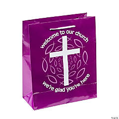 Purple Welcome To Our Church Gift Bags