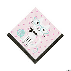 Purr-Fect Birthday Party Luncheon Napkins