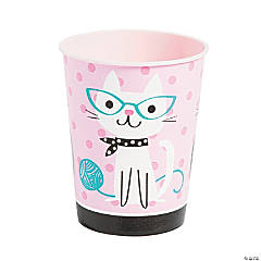 Purr-Fect Cat Party Plastic Cup
