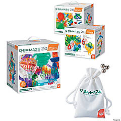 Q-BA-MAZE 2.0: Stunt Sets Trio with Free Marbles and Storage Bag