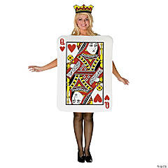Queen of Hearts Card Costume for Women