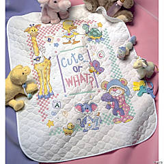 Quilt Stamped Xstitch Kit-Cute..Or What?