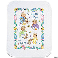 Quilt Stamped Xstitch Kit -Someone New
