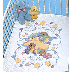 Quilt Stamped Xstitch Kittwinkle Twinkle