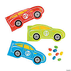 Race Car Bags with Jelly Beans