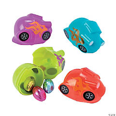 Race Car Plastic Easter Eggs - 12 Pc.