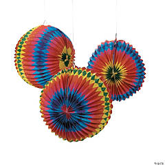 Rainbow Balloon Hanging Paper Lanterns
