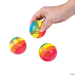 Rainbow Baseball Stress Balls