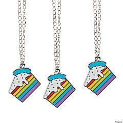 Rainbow Cake Necklaces