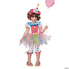 Rainbow Clown Costume for Girls